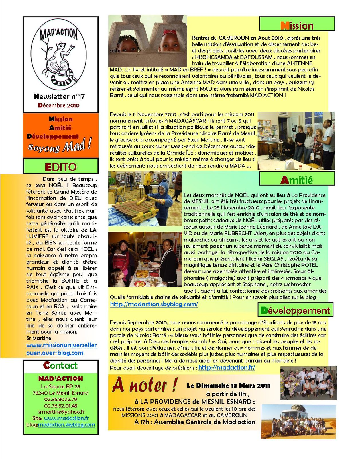 newsletter MAD n°17 déc 2010