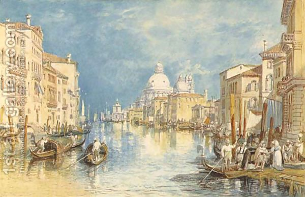 The-Grand-Canal--Venice--With-Gondolas-And-Figures-In-The-F.jpg