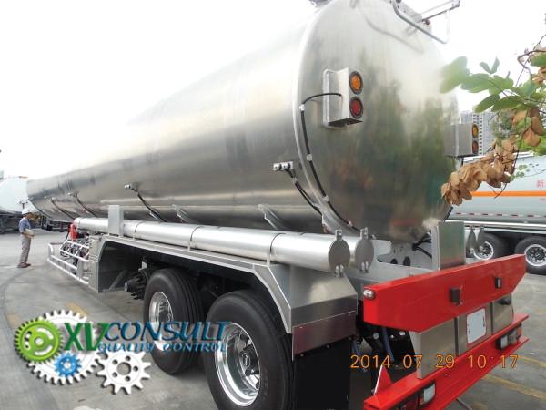Semi remorque citerne  Aluminium 45000 litres 3 essieux ADR