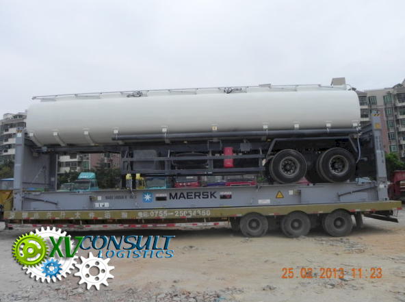 Expedition Semi Citerne -Flat Rack 40 China A