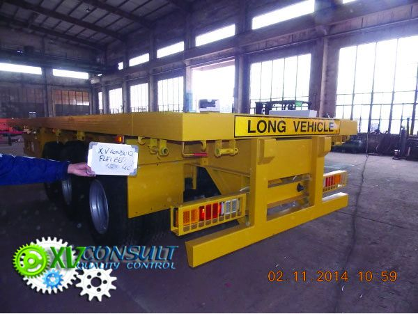 Semi trailer flatbed 40 china export africa export F
