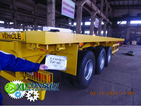 Semi trailer flatbed 40 china export africa export H