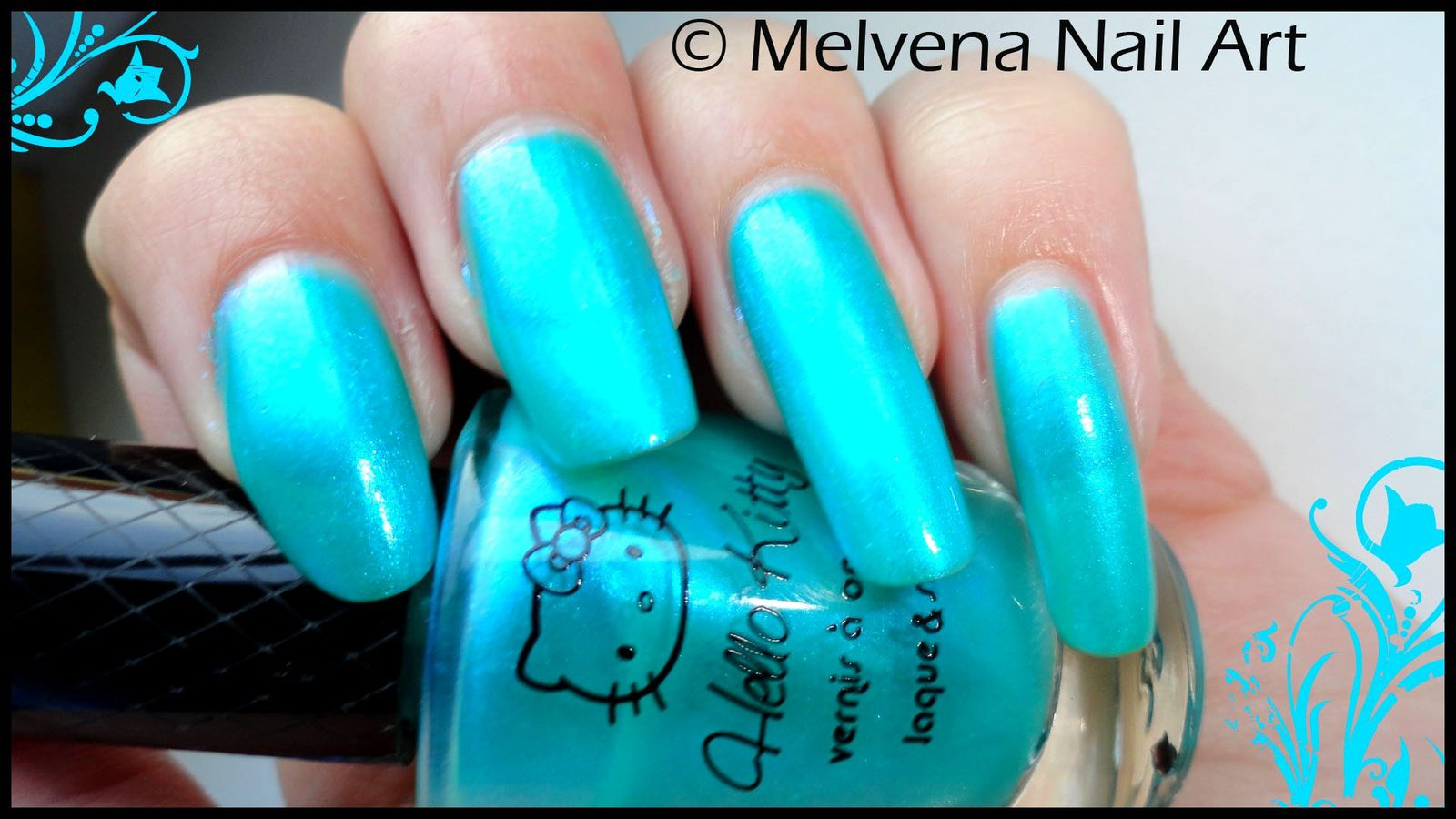 Connu Vernis Hello Kitty Bleu turquoise - Le blog de melvenailart.over  IP42