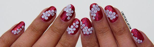Gel 3D cascade de fleurs8