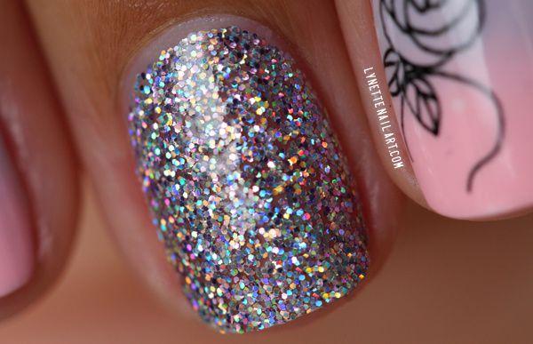 Nail art dégradé shabby 6