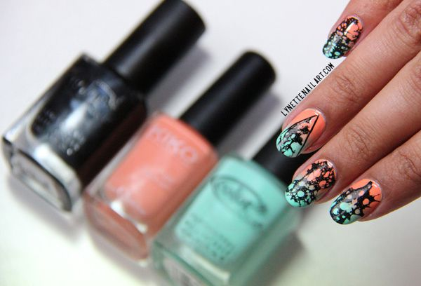 Spotted nail art 1