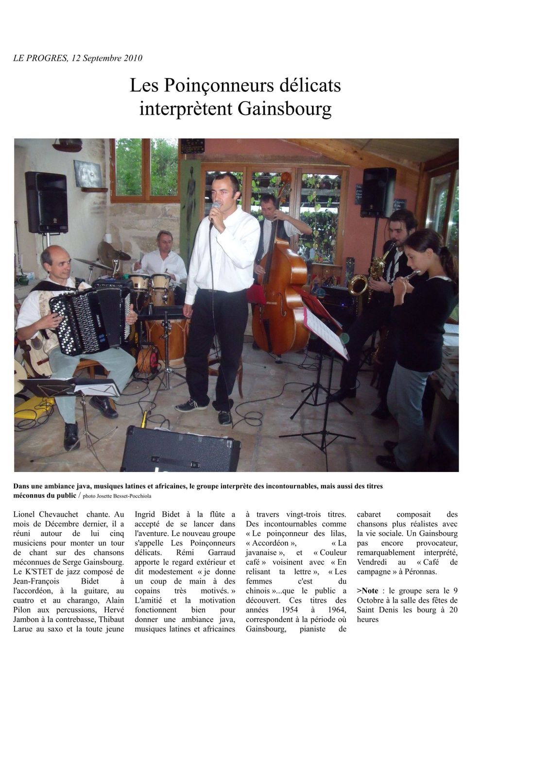 Article Le progrès 12 Sept 2010 02