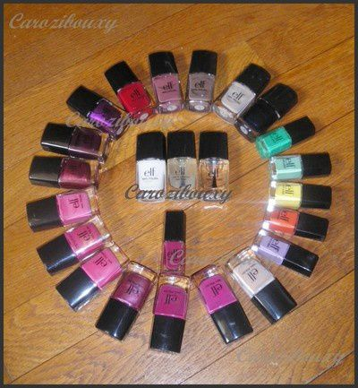 collection carozibouxy vernis ELF