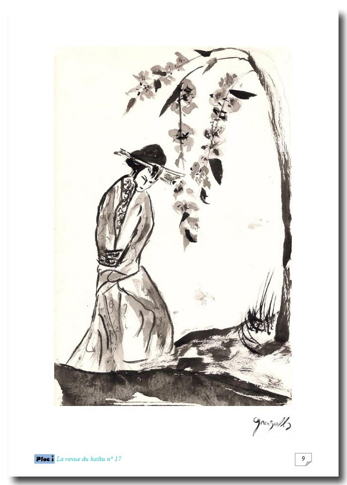 encres, lavis, sumi-e, ukiyo-e