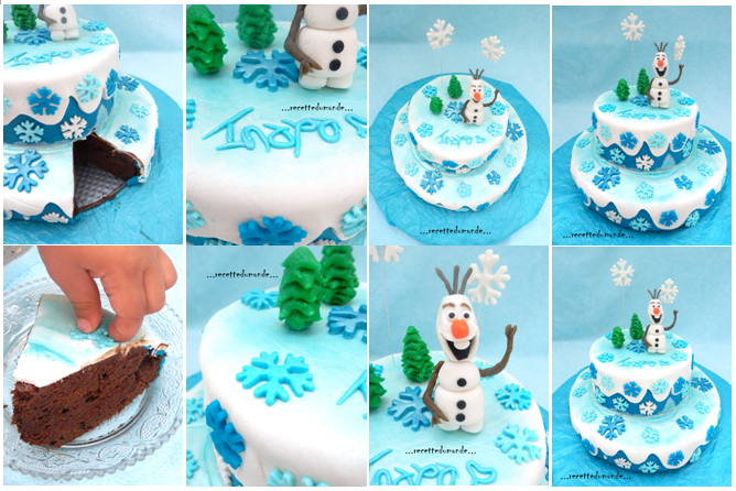 olaf cake g teau 3d la reine des neiges frozen cake. Black Bedroom Furniture Sets. Home Design Ideas