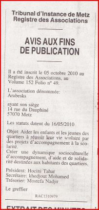 annonce arabesk