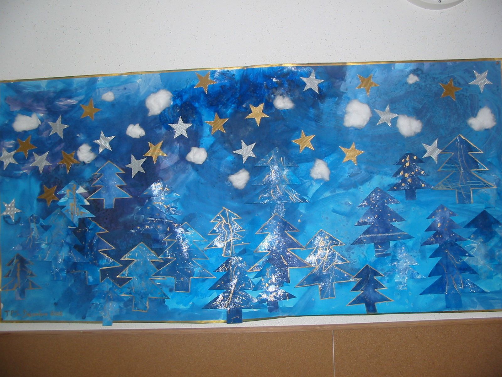 Album noel bleu blog de reinette et blog d 39 instit for Decoration porte noel ecole