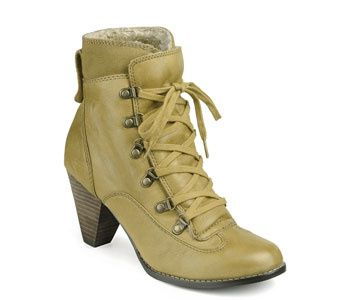 Bottines fourrées jaune moutarde Buffalo