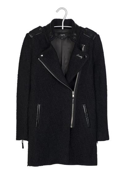 Manteau noir zippé School Rag