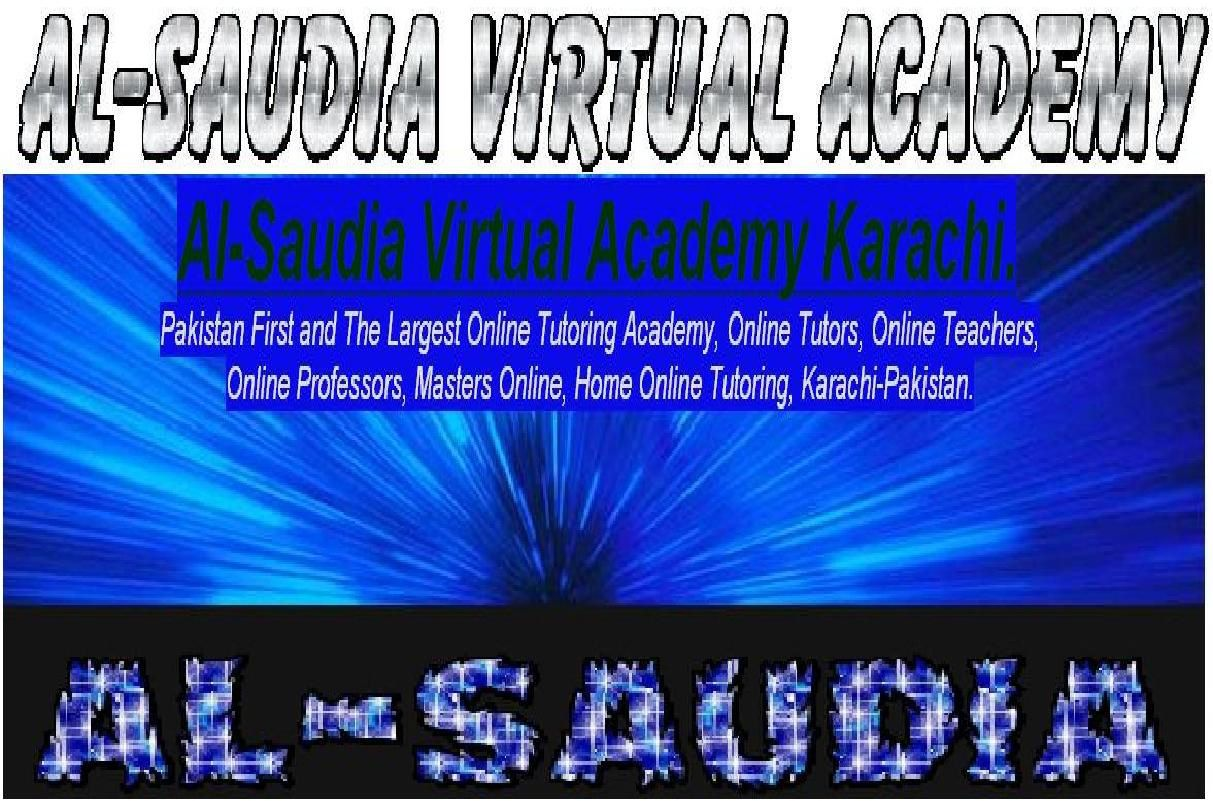 Al-Saudia Virtual Tutors Academy Karachi, Pakistan