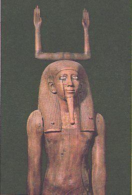 Statue du Ka du roi Hor, fin de la XIIe dynastie. Musée du