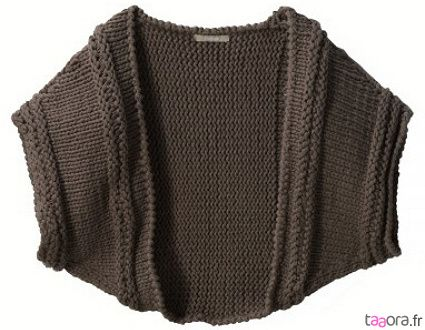 0903101 cache epaules taupe en maille 1060 clothes
