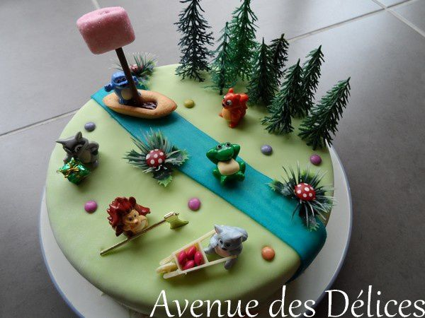 Gateau theme foret