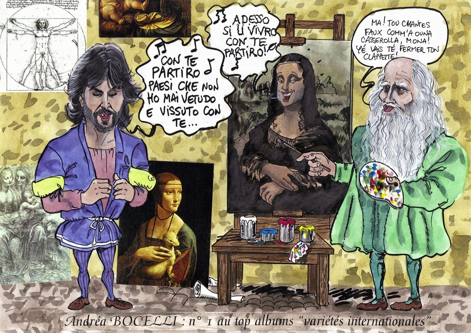 Andrea Bocelli et léonard de Vinci