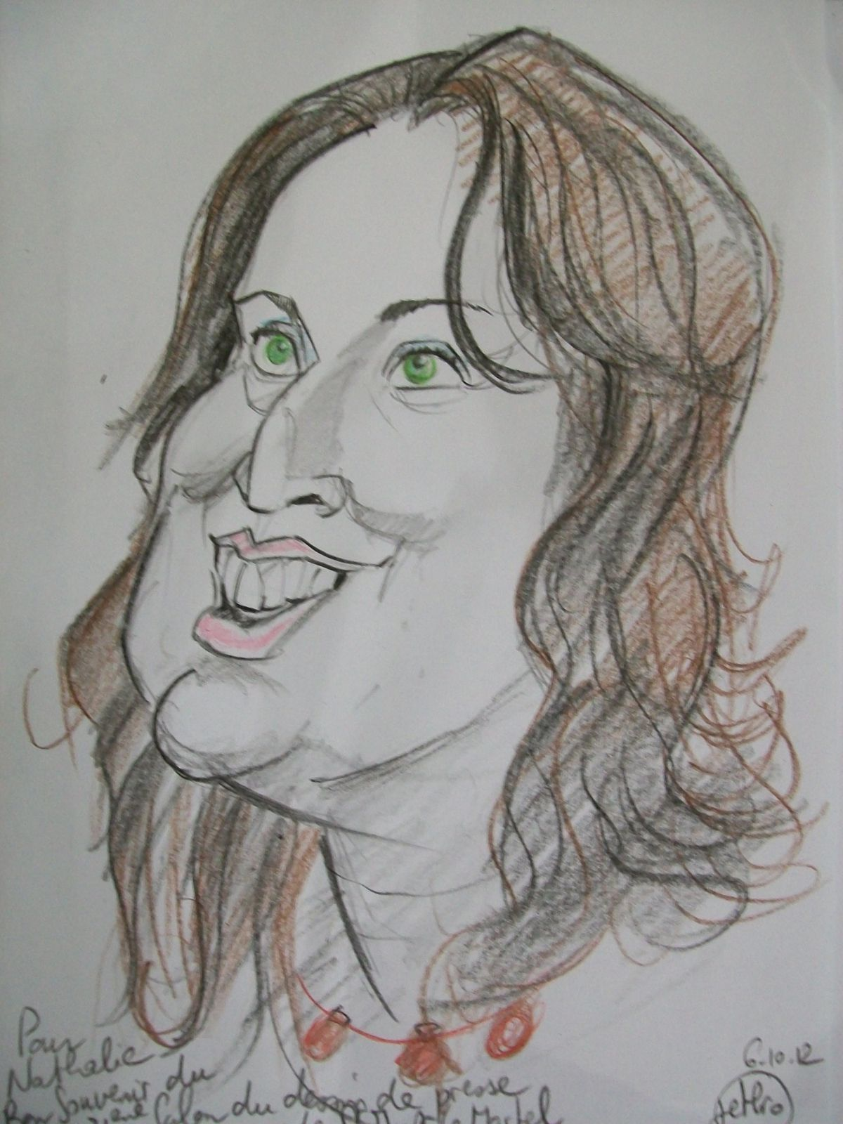 Caricature Nathalie