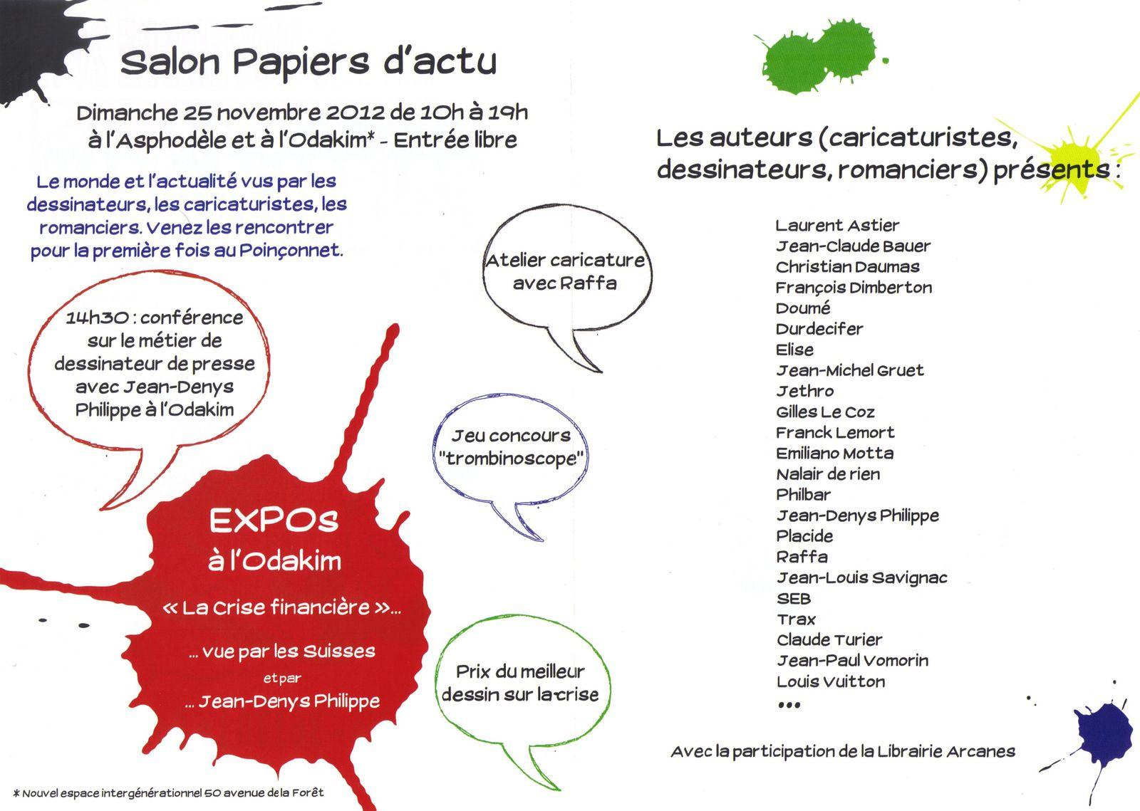 affiche Le Poinçonnet 2012 programme
