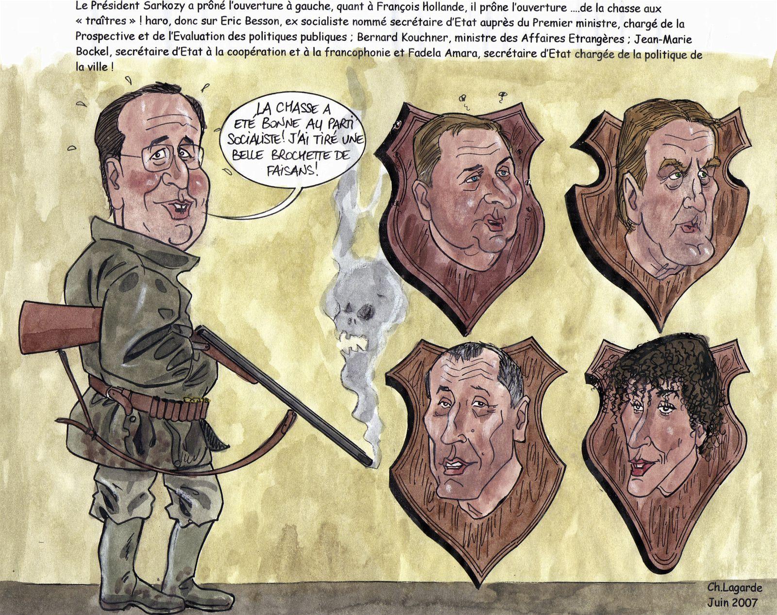 juin 07 François Hollande et une belle brochette de faisan