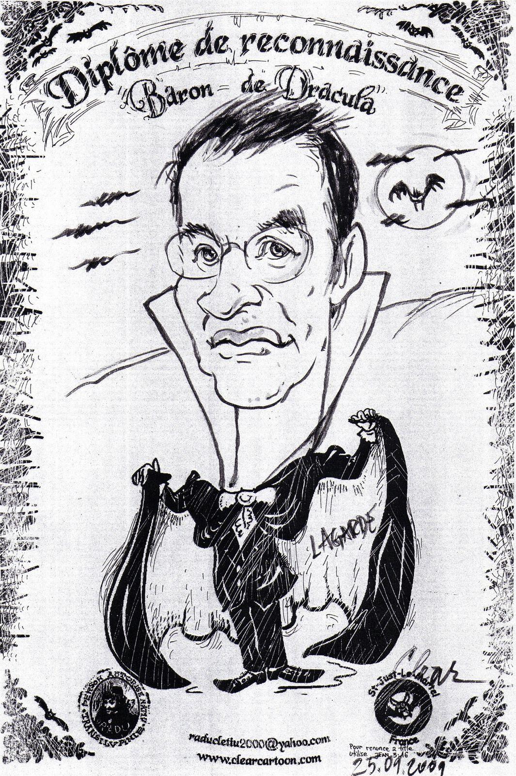 ma caricature en Dracula par Clear 2009
