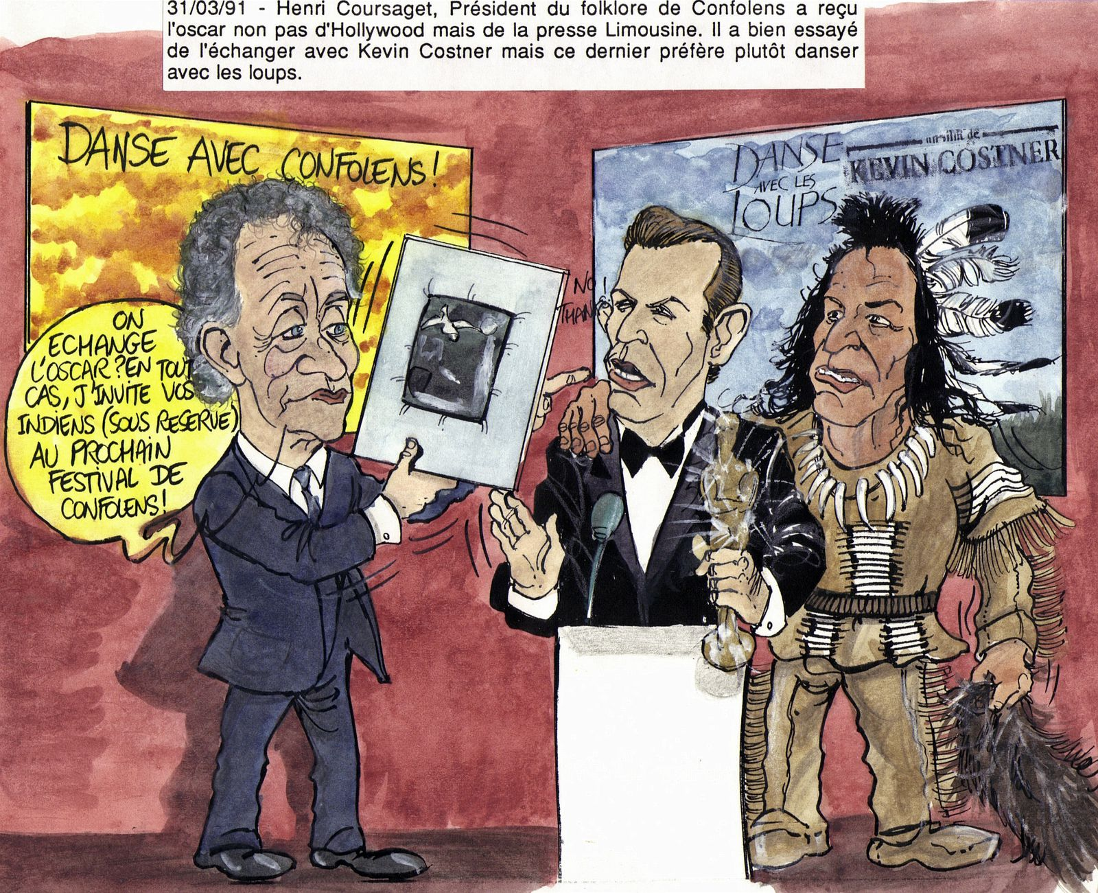mars 91 Henri Coursaget président des folklores de Confole