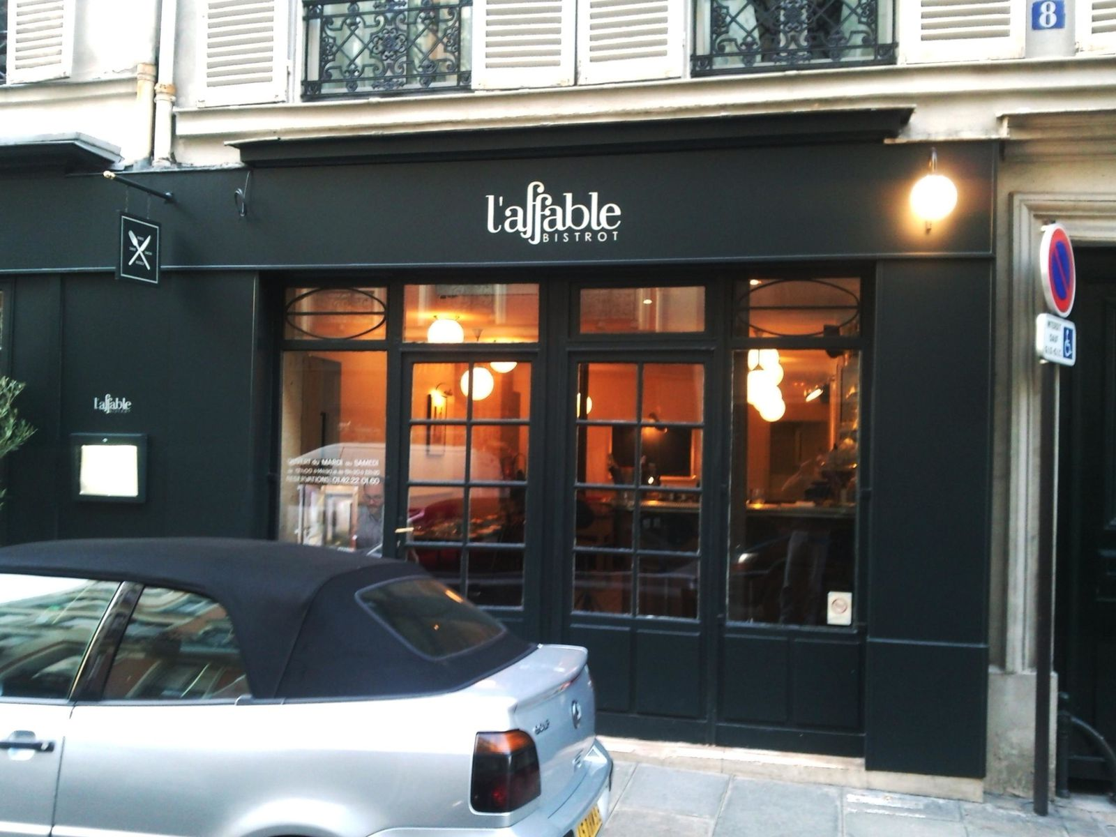 restaurant l'affable , paris