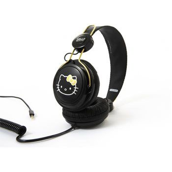 Casque Hello Kitty noir