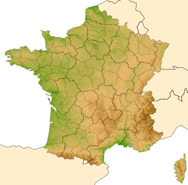 les massifs de france