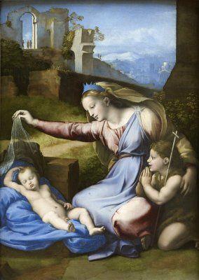 Vierge au diadième bleu