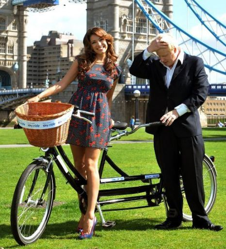 kelly brook boris johnson tandem