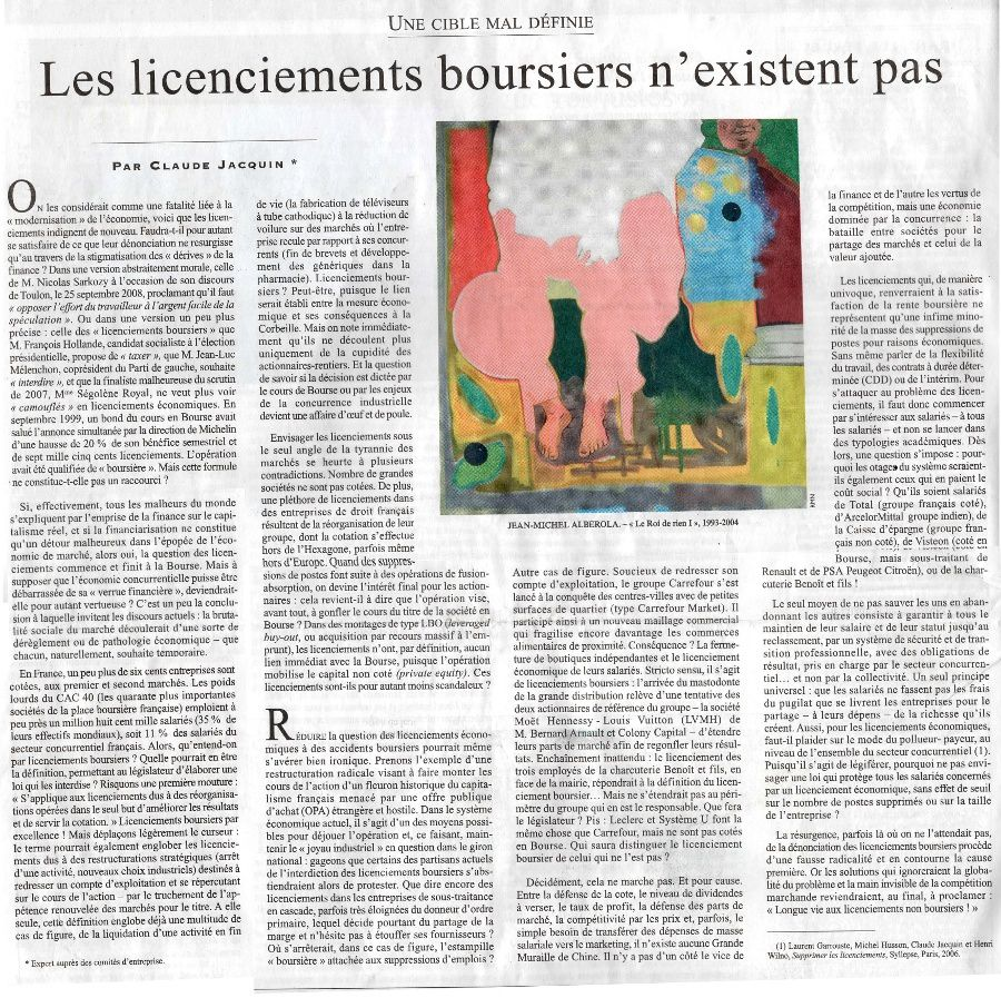 Licenciements boursiers Diplol