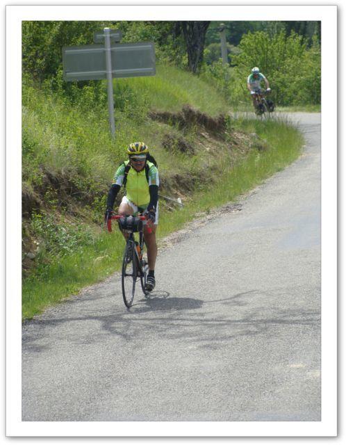 """Photos de Patrick Chetcuti retraçant les épisodes du """"raid"""" vélo organisé par le cub cyclo de 13870 Rognonas"""