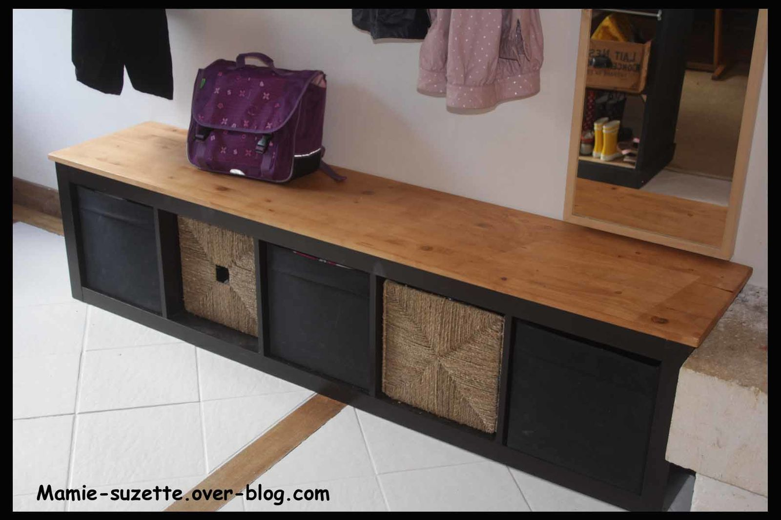 Am nagement de l 39 entr e le blog de mamie for Ikea meuble a chaussures
