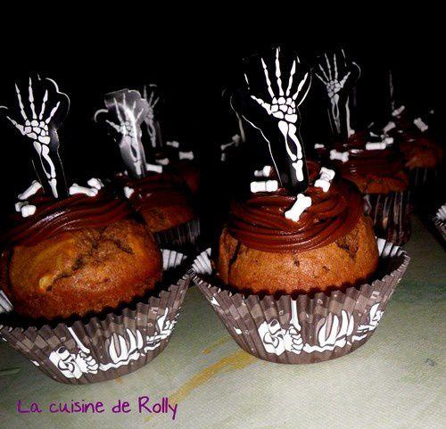 Cupcakes halloween chocolat