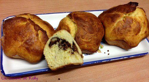 brioche marbré noix nutella coupéé