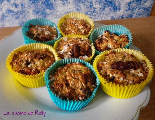 muffins complets banane choco