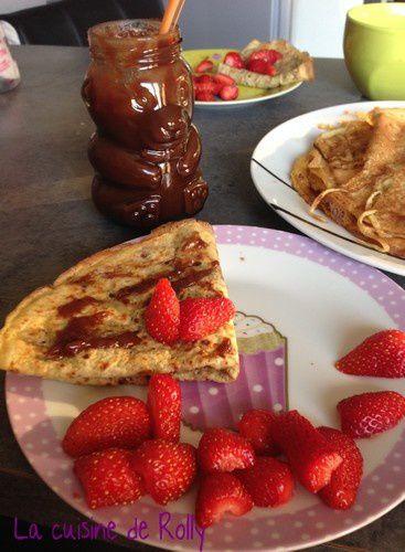 crêpe lait d'amande choco fraises