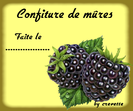 Supplements crevette dans la marmite - Confiture de mures maison ...