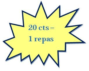 20 cts = 1 repas