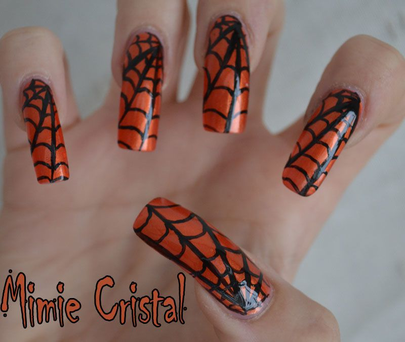 deco ongle halloween great nail art spcial halloween toiles duaraigne with deco ongle halloween. Black Bedroom Furniture Sets. Home Design Ideas