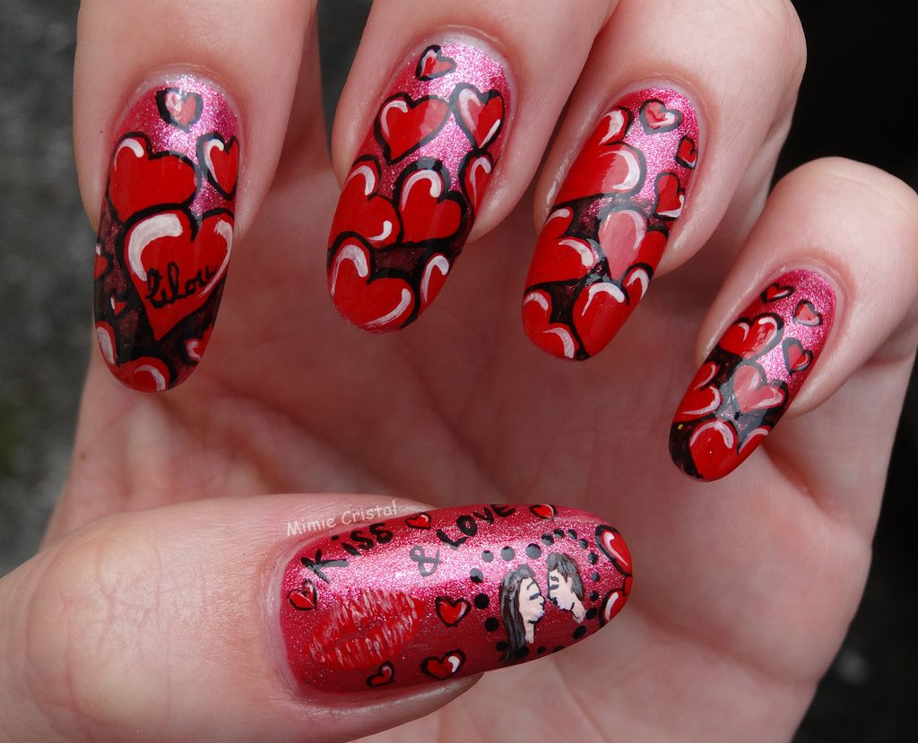 Concours amour - Ongle st valentin ...