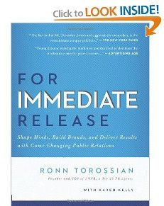 Ronn Torossian For Immediate Release book