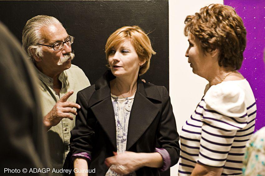 Vernissage de l'exposition   des oeuvres de Mireille Laborie  à la Galerie Deleuze Rochetin