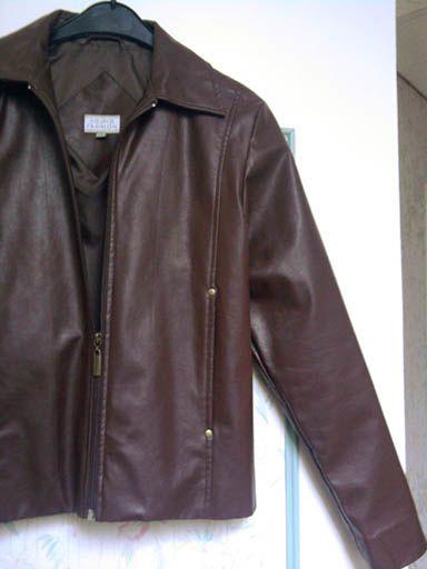 Veste simili cuir brun neuve t s le blog de fripes - Laver une veste en cuir ...