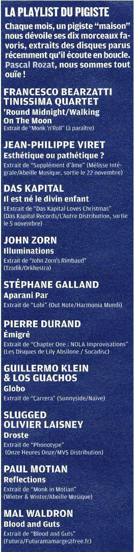 Jazz magazine Novembre 2012 - N°643 - Play List