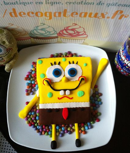 g teau bob l 39 ponge 3d sponge bob cake tutoriels de cake design recettes de chef p tissi re. Black Bedroom Furniture Sets. Home Design Ideas