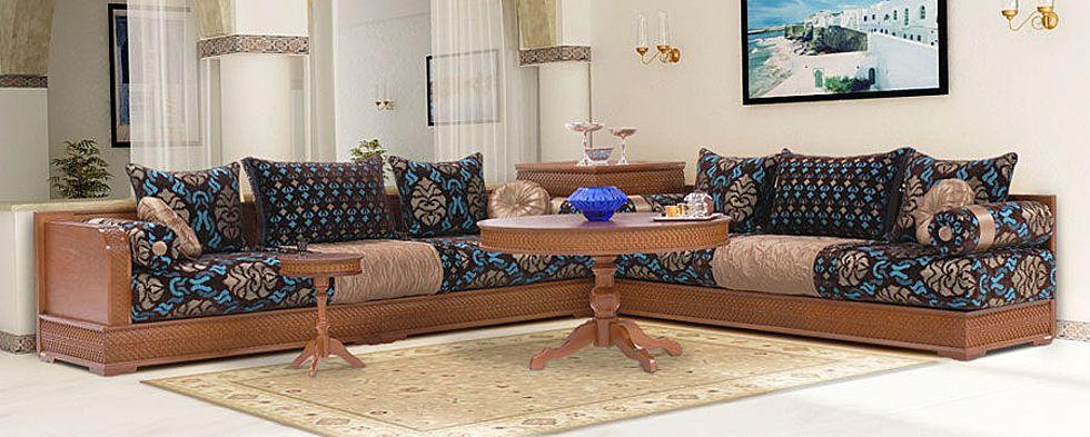 Salon moderne marocain richbond avec des for Salon richbond